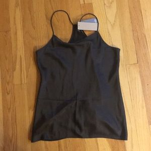 Charcoal silk camisole